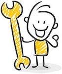 Klicken Sie auf die Klempner Figur & gelangen Sie zu den Leistungen